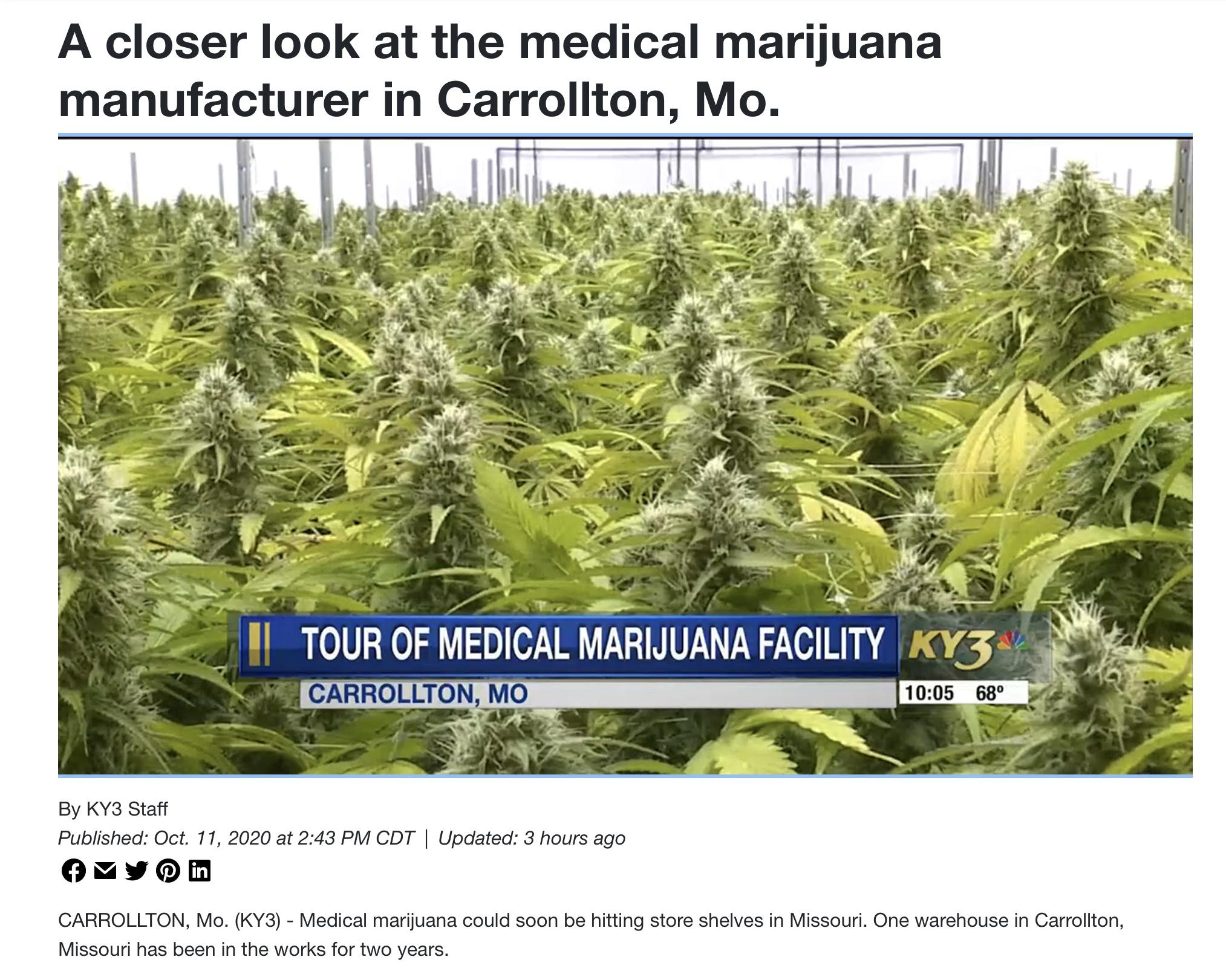 Medical Marijuana Missouri: When do dispensaries  open in MO?